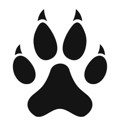 Cat paw icon simple style vector image vector image