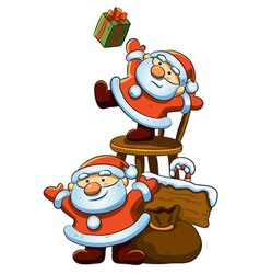 cute little santa vector image