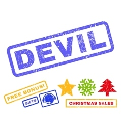 Devil Rubber Stamp vector image