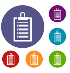 document plan icons set vector image vector image