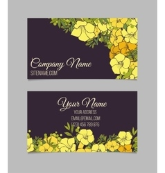 Double-sided floral business card vector image