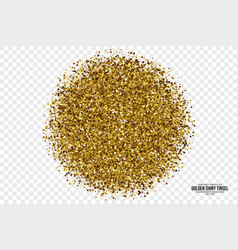 Golden shiny tinsel square particles background vector