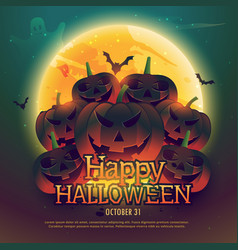 Happy halloween background poster vector