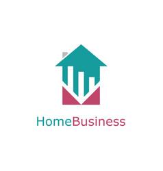 home trade business logo vector image
