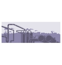 Industrial factory landscape vector image