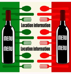 Italian Wine Menu vector image
