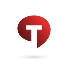 Letter T speech bubble logo icon design template vector image
