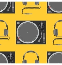 Musical equipment seamless pattern vector
