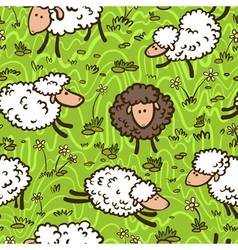 pattern with sheeps vector image