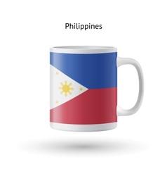 Philippines flag souvenir mug on white background vector