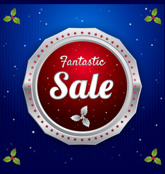 Retro promotion discount sale and guarantee tag vector