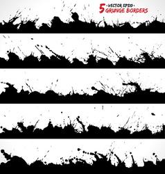 Set of round grunge frames vector