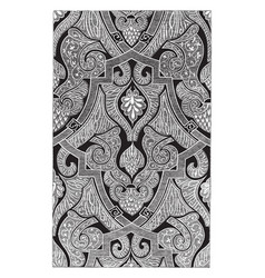 Tapestry has an alhambra design throughout vector