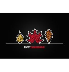 Thanksgiving autumn leaves design background vector image