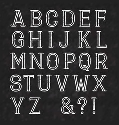 white capital letters of shabby paint on a black vector image