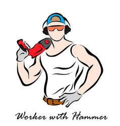 workman vector image vector image
