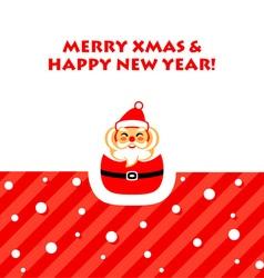 Santa greetings card vector image