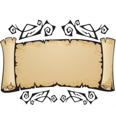Old torn scroll with pattern vector