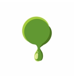 Punctuation mark point made of green slime vector