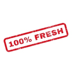 100 percent fresh text rubber stamp vector
