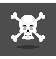Sleeping skull emotion crossbones closed eye vector