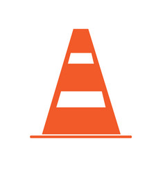 construction barrier icon on white background vector image