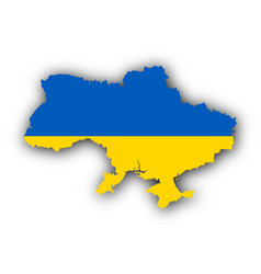 Map and flag of ukraine vector
