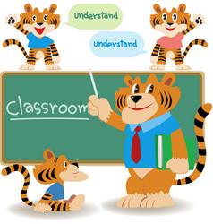 Classroom teacher vector