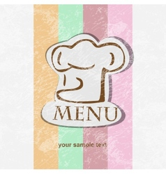 restaurant menu design retro poster vector image