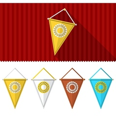Flat of triangular pennants vector