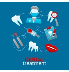 Dental design concept vector