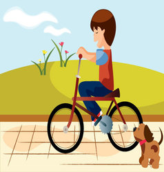 Child-bike vector