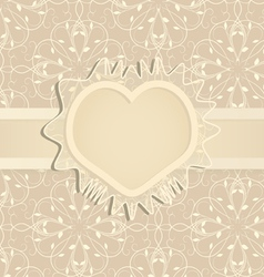 Template for wedding invitation vector