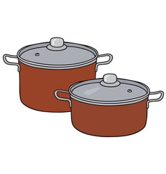 Red pots vector