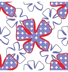 Abstract flower pattern a seamless background vector