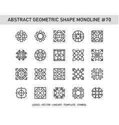 Abstract geometric shape monoline 70 vector