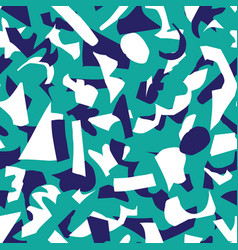 Abstract paper cut shapes seamless pattern vector