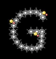 Abstract star G alphabet character vector image