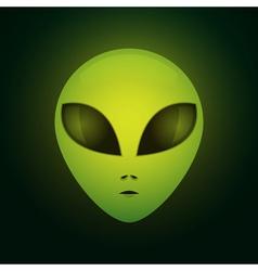 Alien face vector