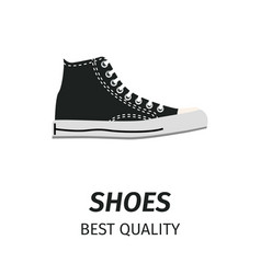 best quality black shoes isolated vector image