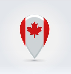 Canadian icon point for map vector image