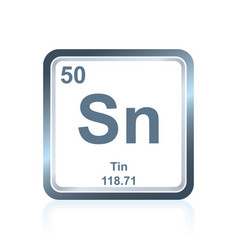 chemical element tin from the periodic table vector image vector image