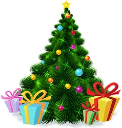 Christmas tree isolated - vector image