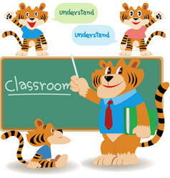 Classroom teacher vector