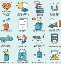 Customer relationship management - part 6 vector