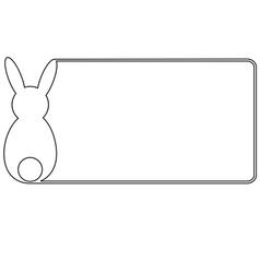 Easter card horizontal format vector