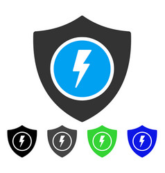 Electric guard flat icon vector