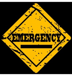 emergency sign vector image vector image