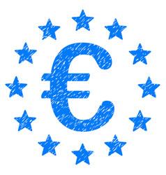 European union grunge icon vector