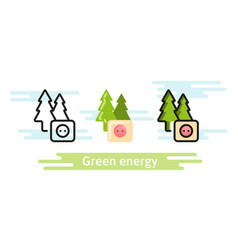 green and renewable energy icon eco symbol vector image